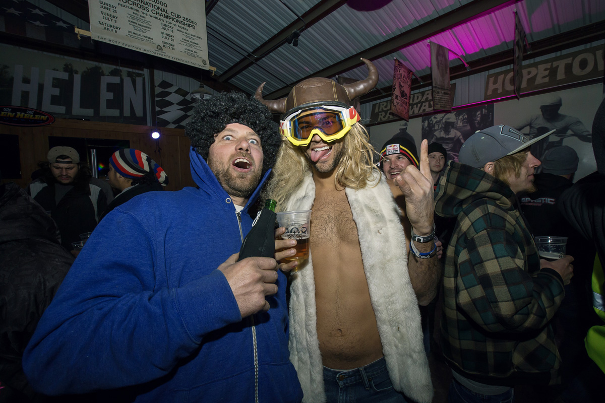 Things got a little weird at the Red Bull barn party on Saturday night.