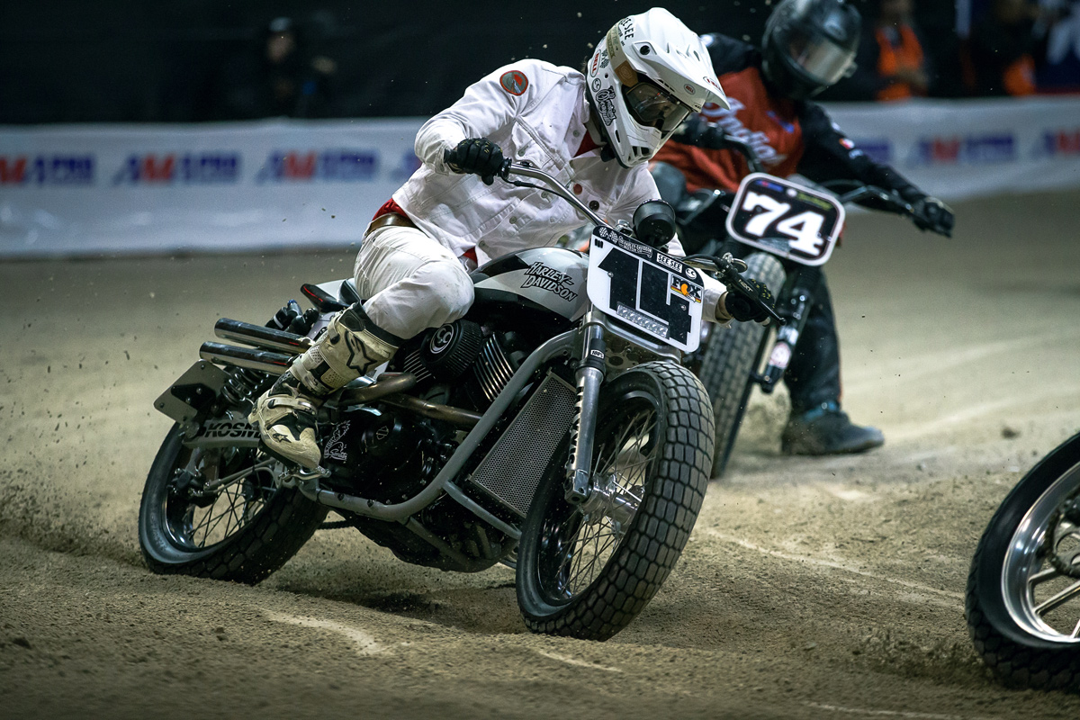 See See Motorcycles' Thor Drake took the win, which included a brand new Indian Scout Sixty. He was stoked.