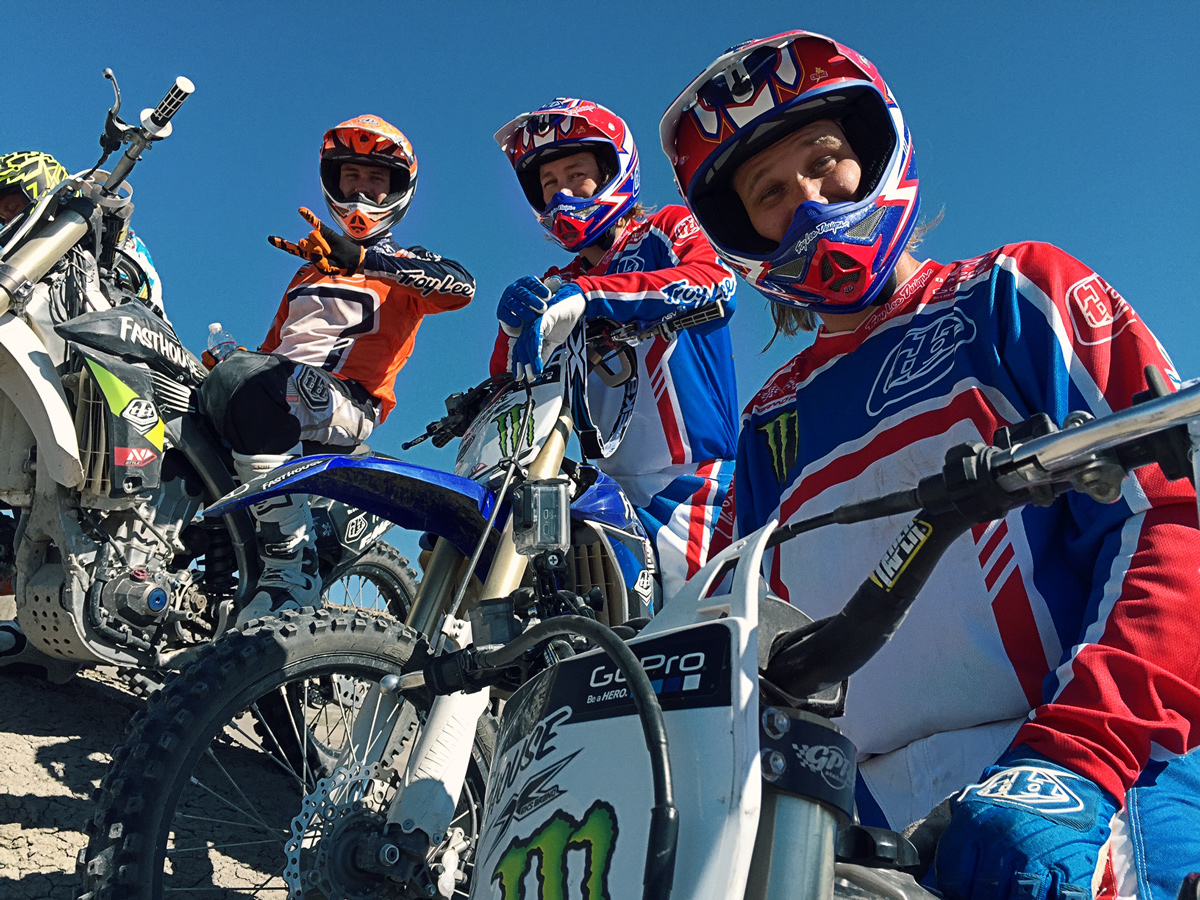 "(From Left to Right) Dustin ""Wacker"" Nowak, Dave Castillo, and Steve Haughelstine during filming."