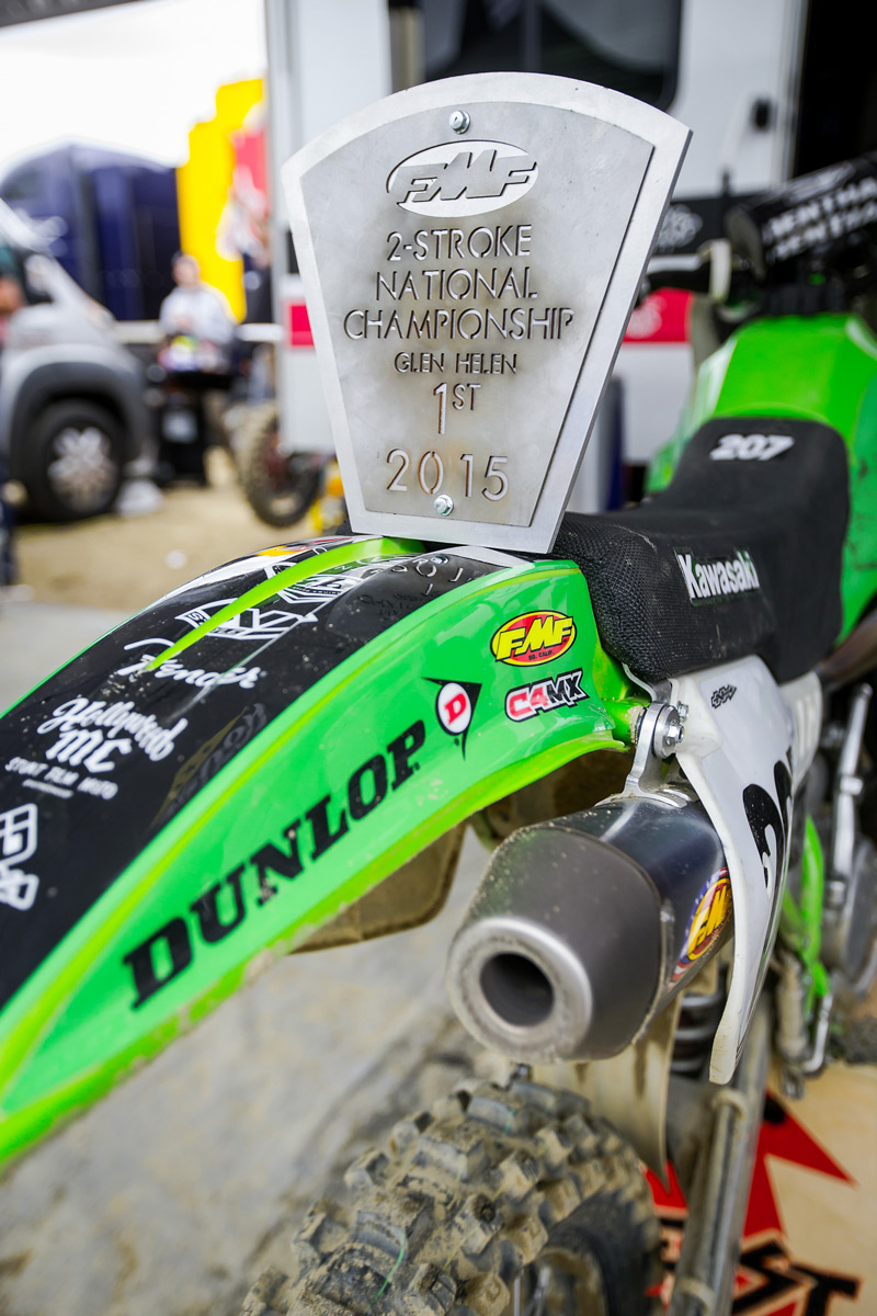 Sean also rode the bike to victory at the FMF Two-Stroke Invitational prior to the AMA Pro National at Glen Helen.