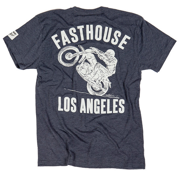 Fasthouse LA Dark T-Shirt, featuring a CZ rider.
