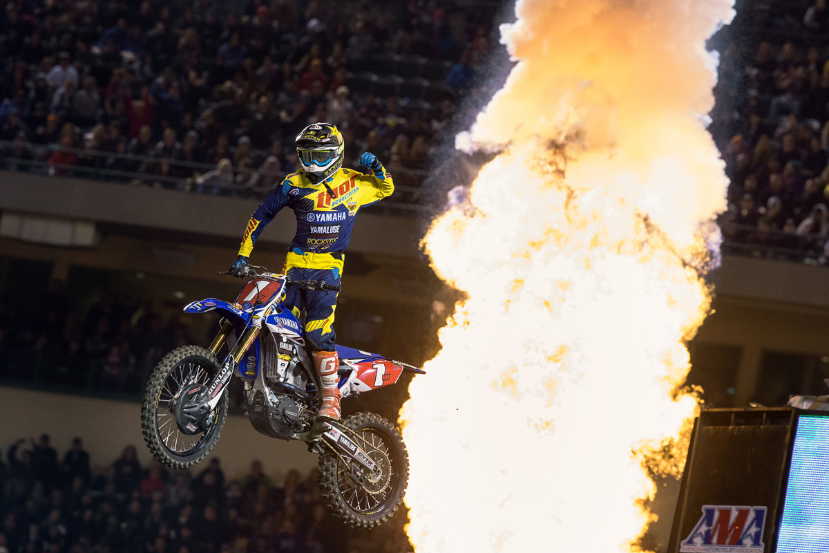 Cooper Webb light the candles with his first win of the season.