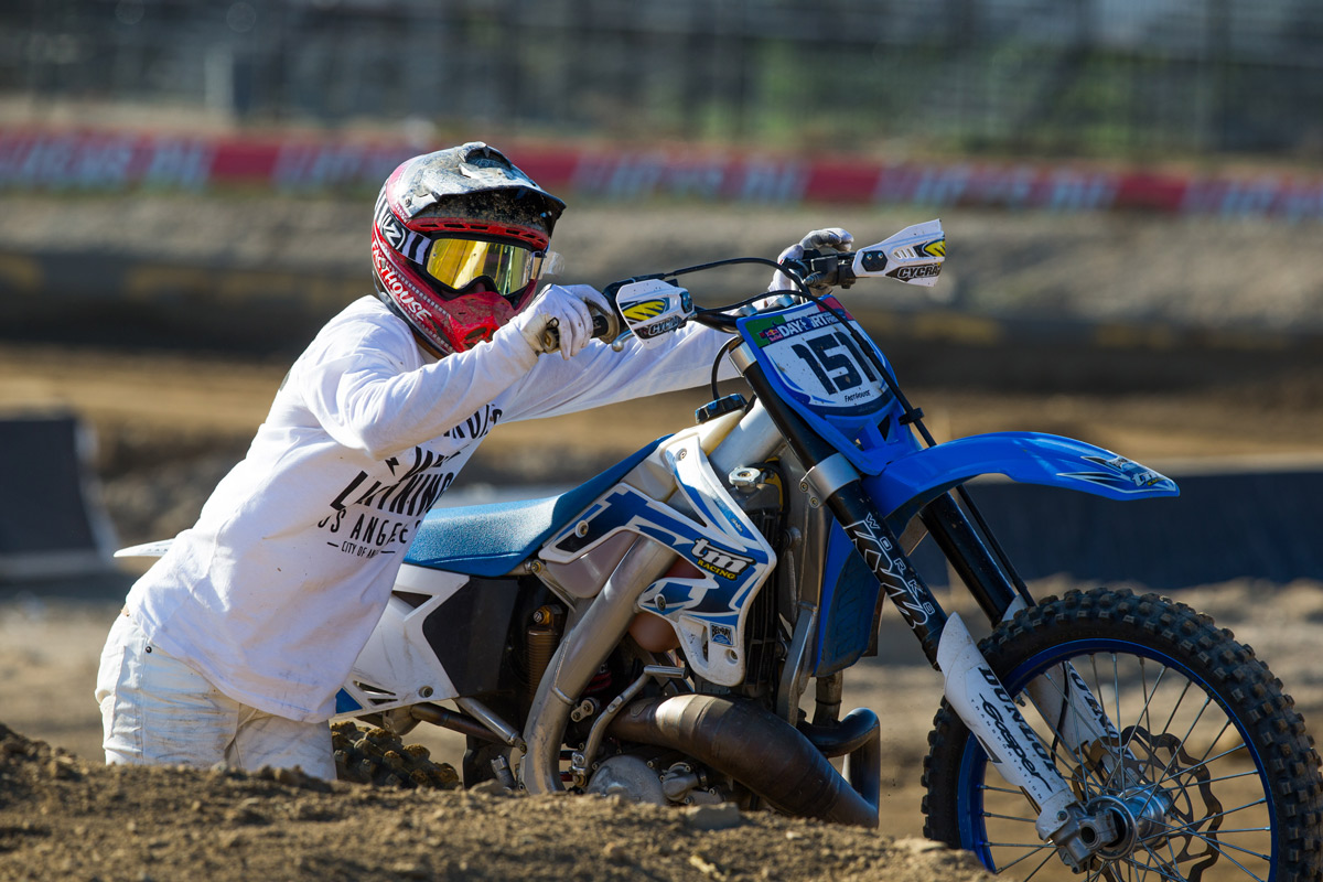 Blayne went so fast in the modern class that he snapped the throttle cable.