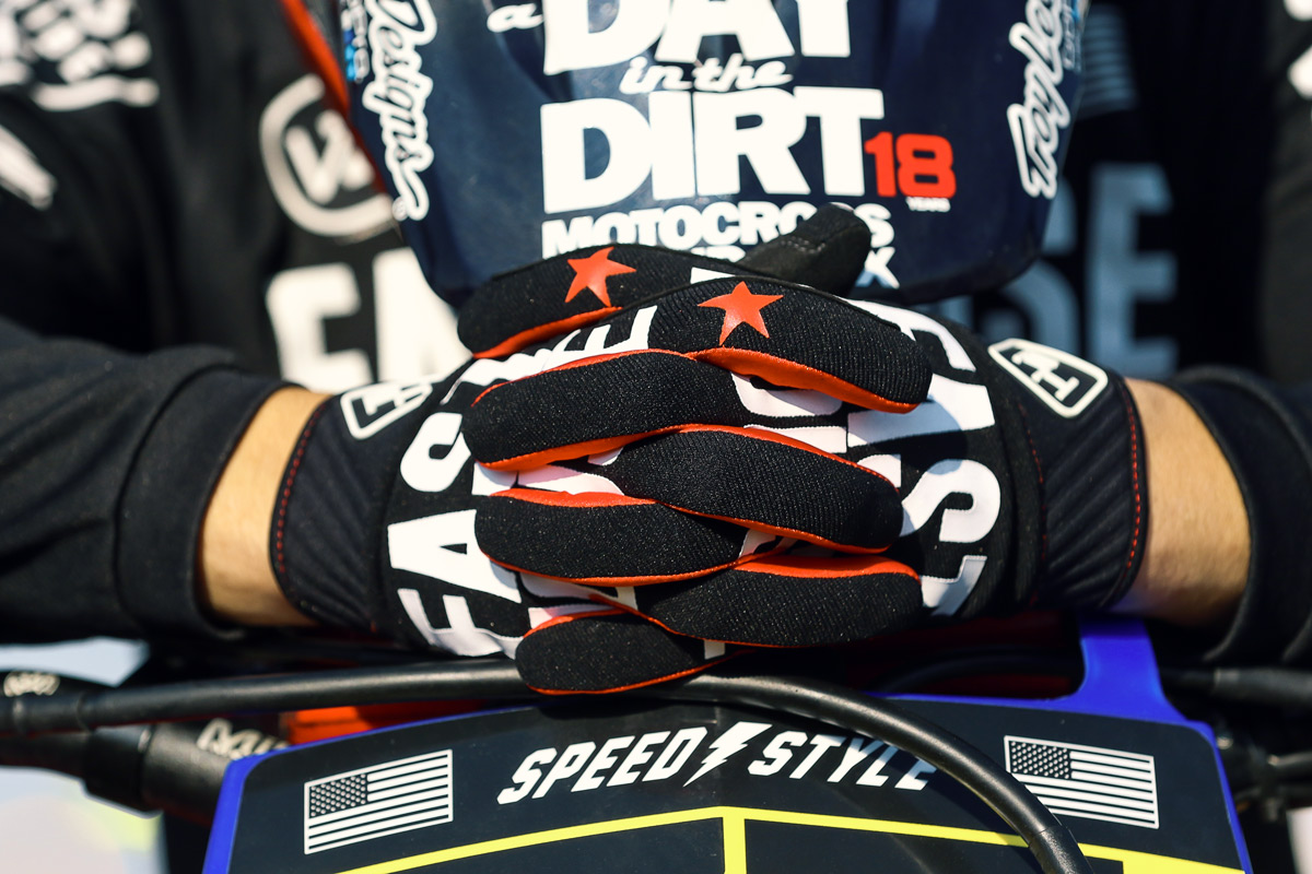 Blayne race tested the new Fasthouse gloves.