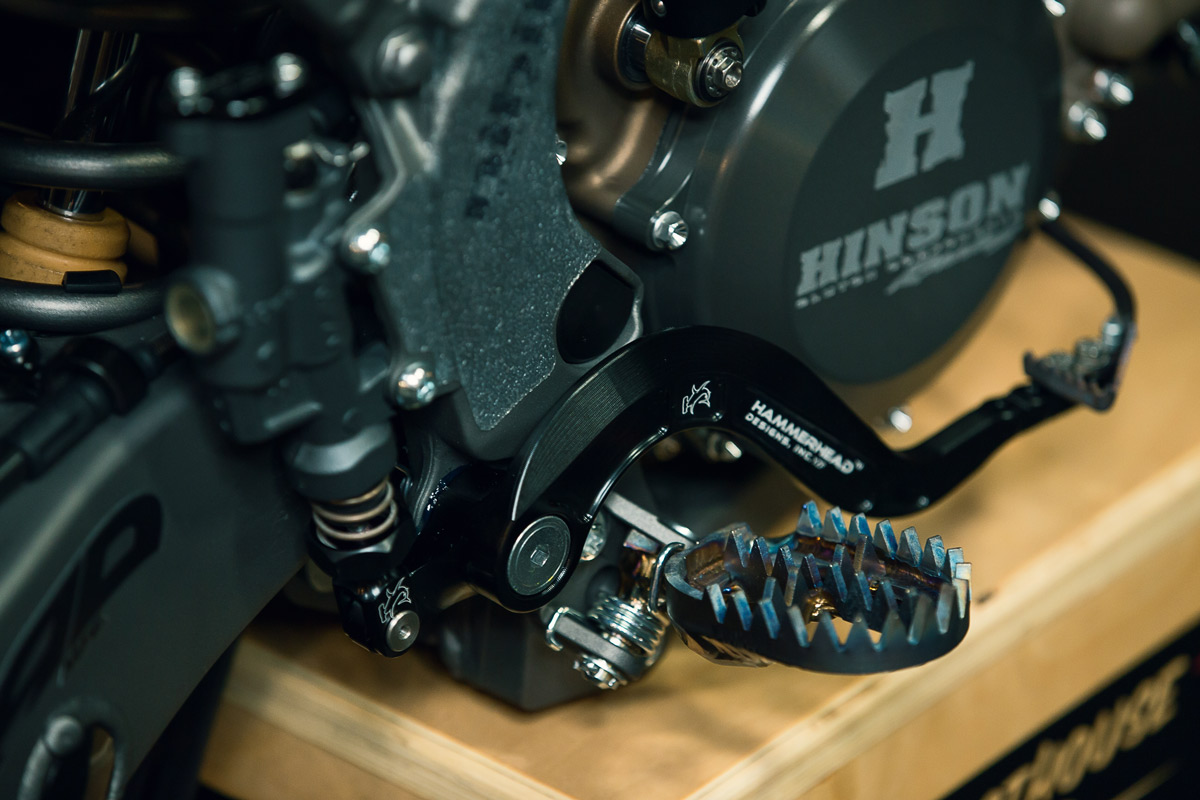 Close up of the pegs on Hell Raiser.
