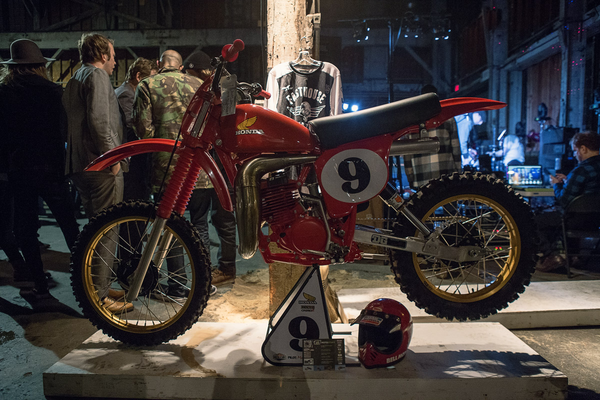 Moto Stuff President Scott Hart showed this immaculate vintage Honda at the show.
