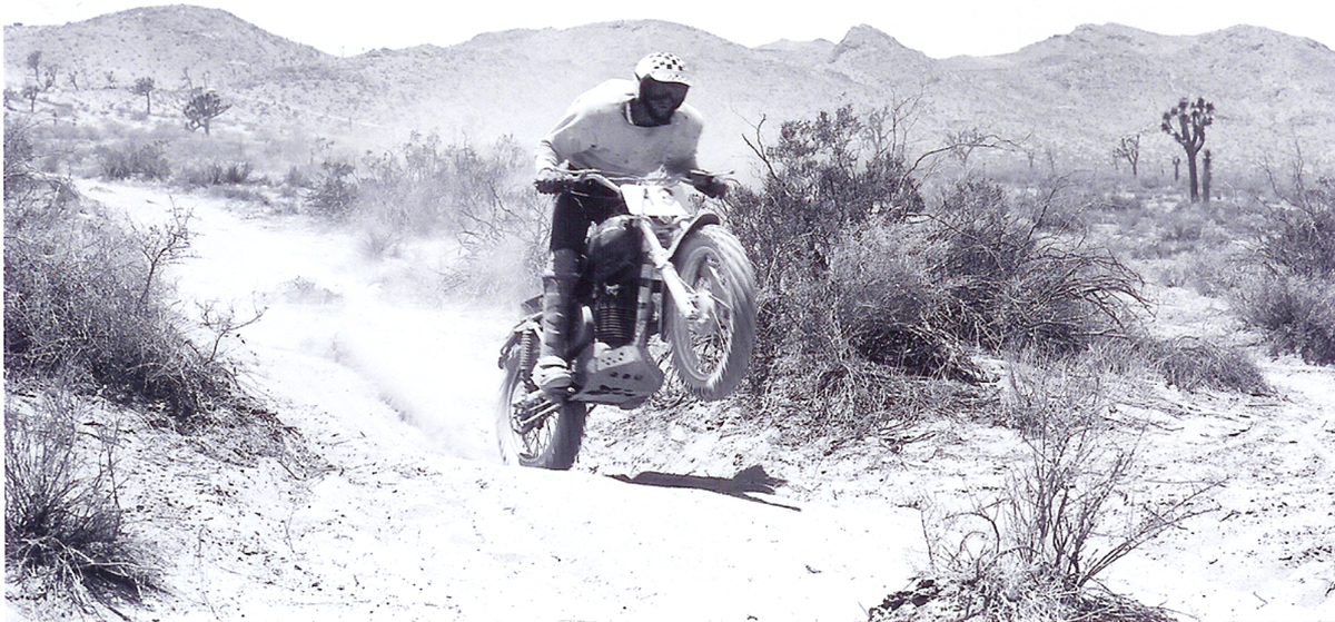 J.N. ripping across the desert.