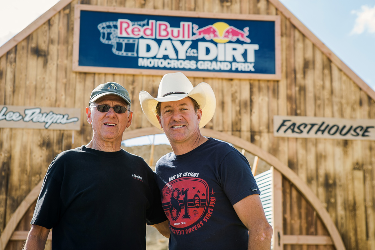 J.N. and his son Jimmy at the 2015 Red Bull Day In The Dirt.