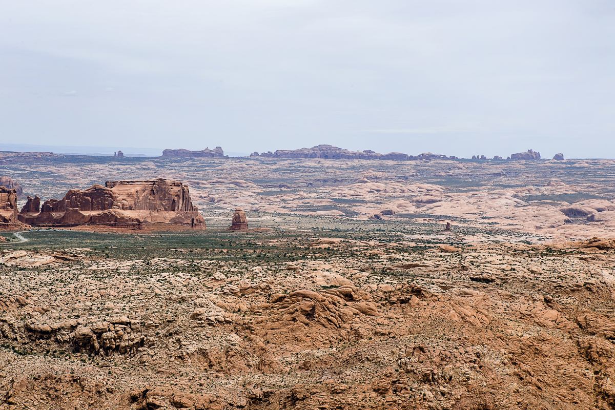 You could see Arches National Park from the highest point on our day two ride.