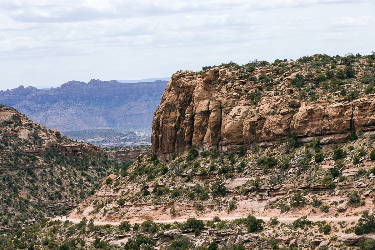If you look closely, Dawes and Cameron are rounding the corner. It really puts the enourmous cliffs in perspective.