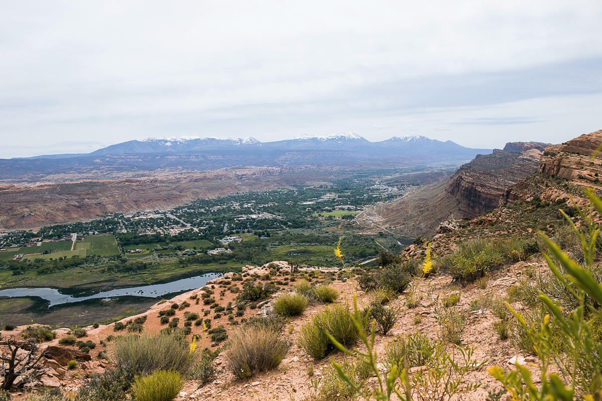 High above Moab on our second day of riding.
