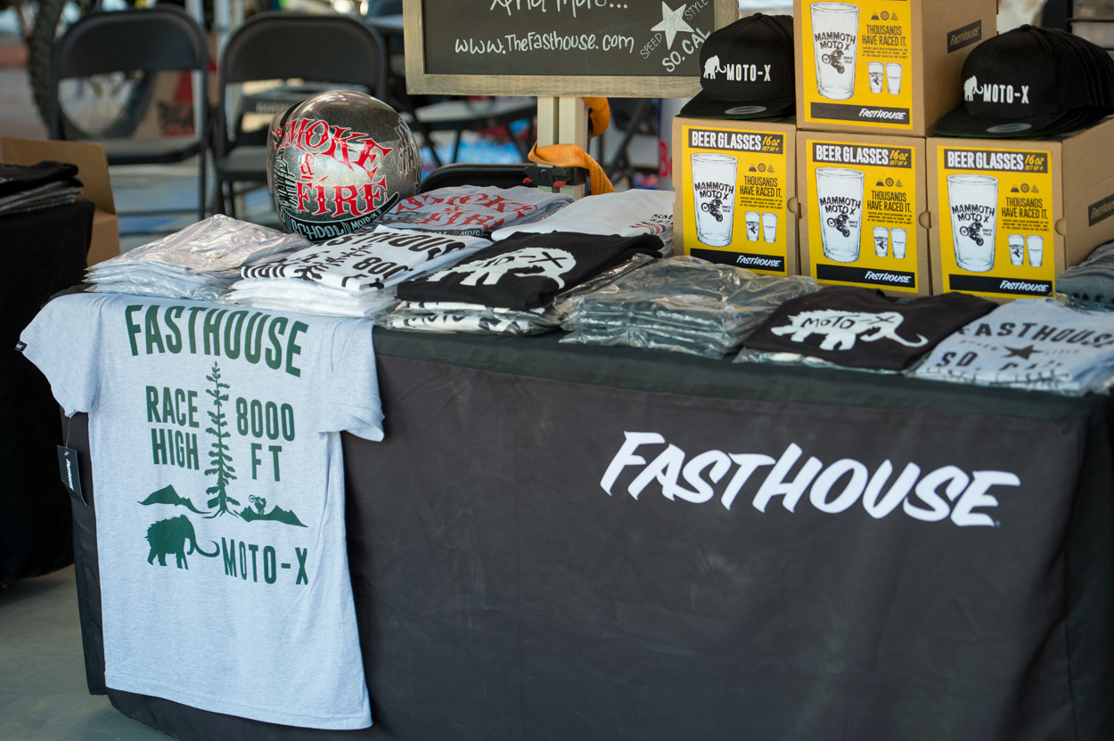 Stop by the Fasthouse booth to pick up some rad style and a cold 805.