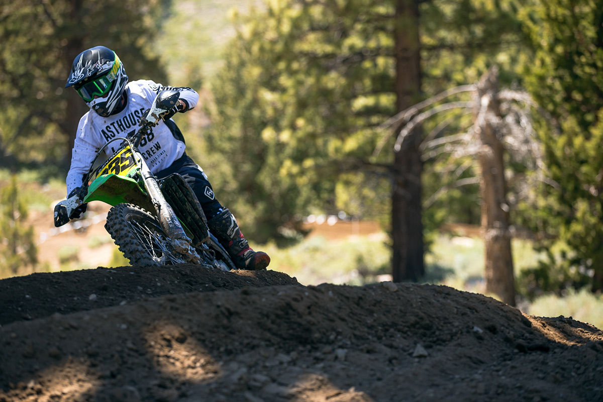 Rusty Holland snagged a few holeshots and ran up front all weekend.