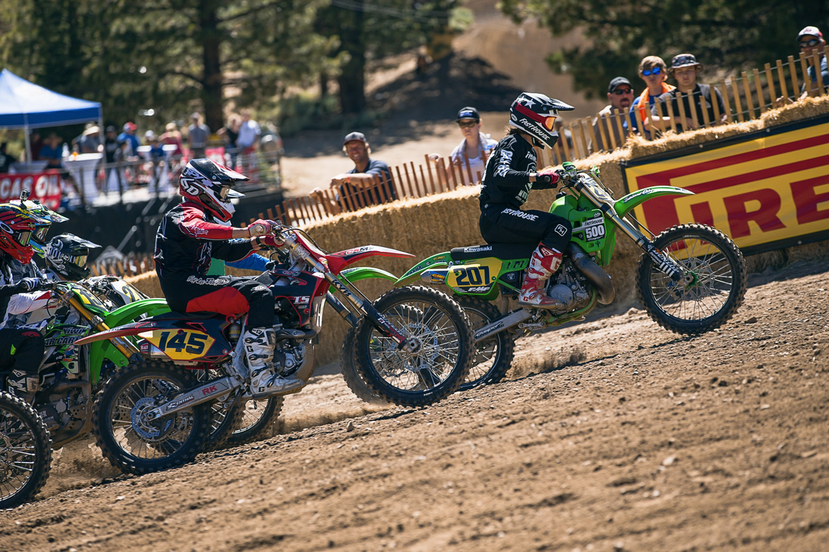 The Beast pulling the final holeshot of the weekend.