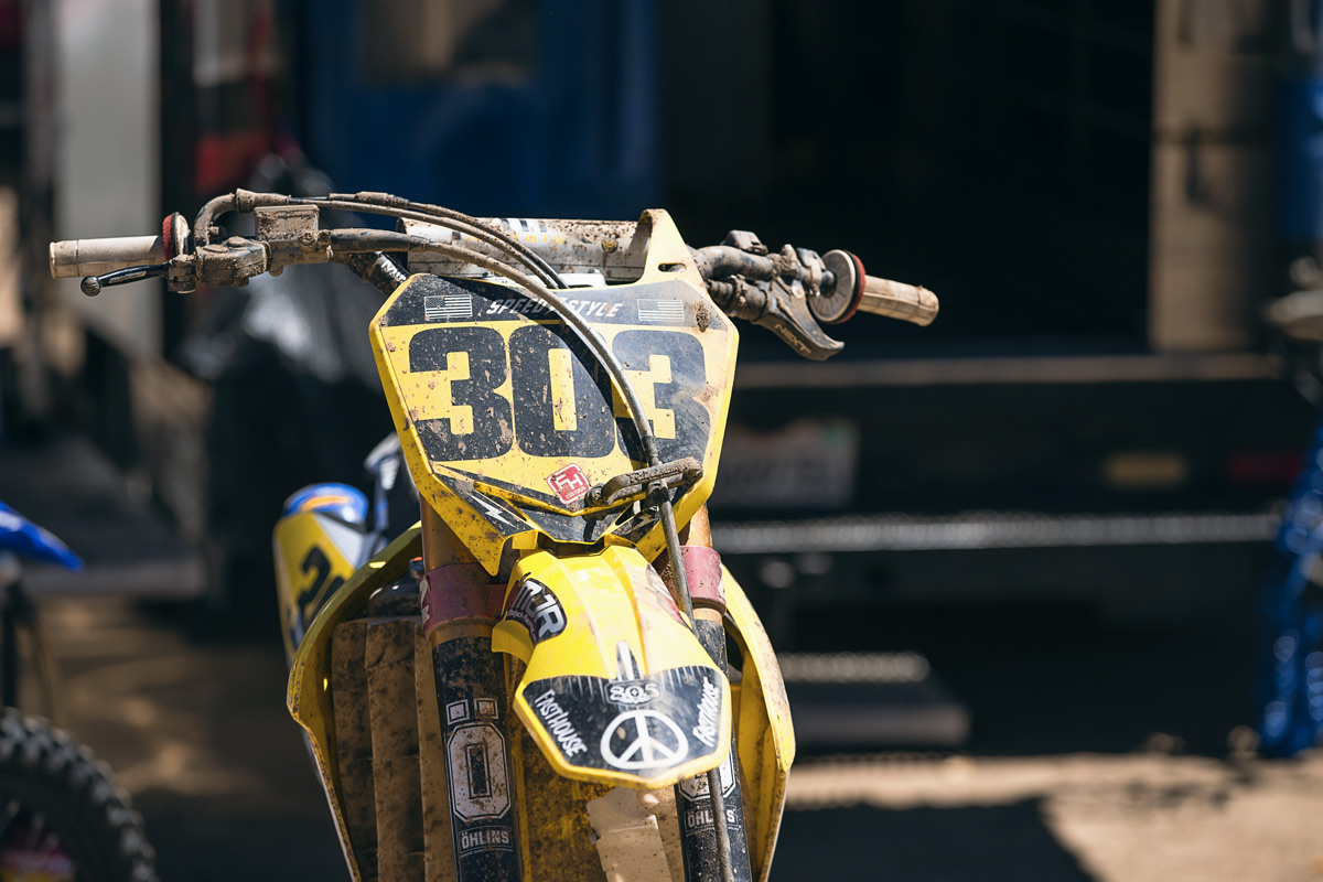 Terry's bike after his second moto crash on Sunday.