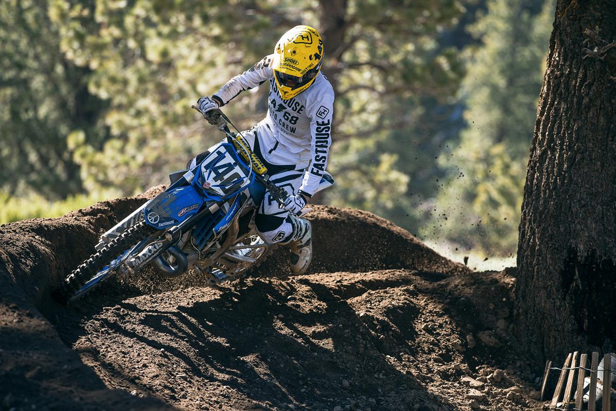 Matt Cerami aboard his Gasper Racing TM.