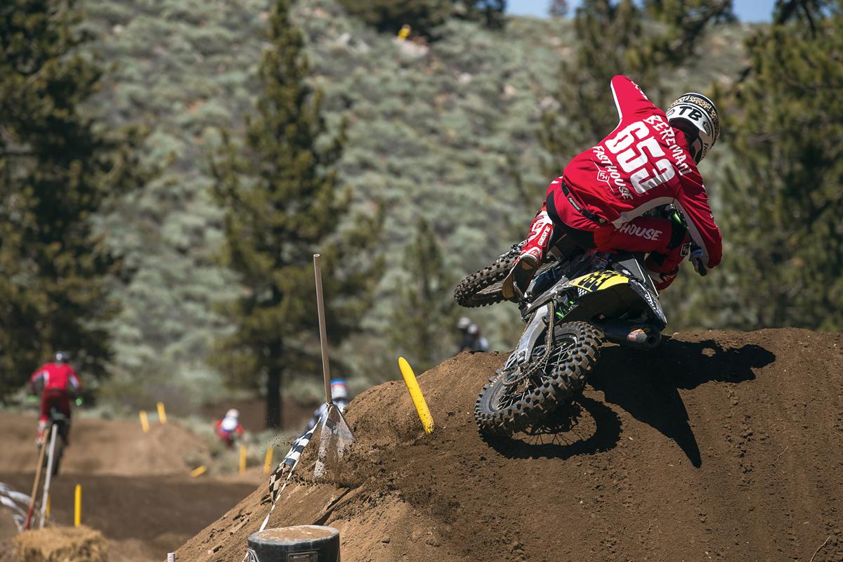 Tyler Bereman having fun mid moto.