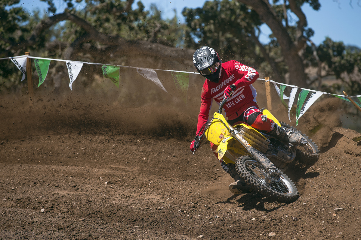 Dave Castillo breaking in his Surfercross steed.