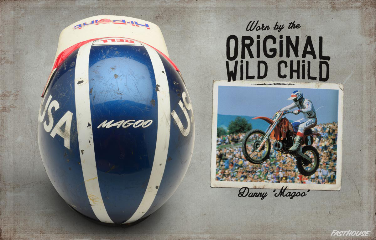 "Danny ""Magoo"" Chandler's Motocross des Nations helmet."