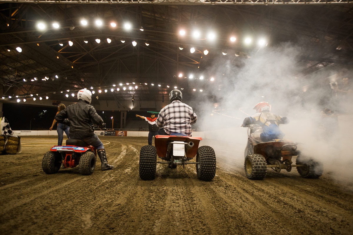 For a couple reasons, everyone held their breath during the three wheeler race.