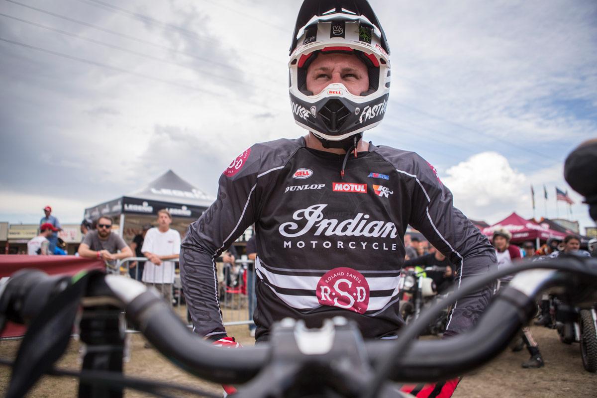 Bell Helmets' Chris Sackett getting his race face on.
