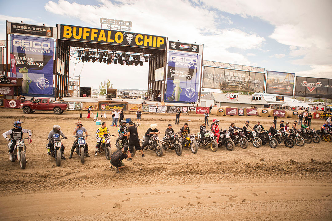 The riders took center stage in front of the Buffalo Chip stage.