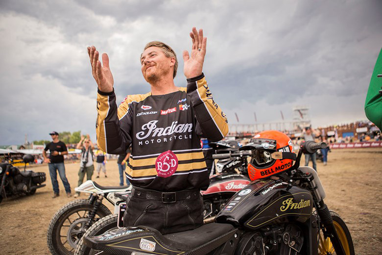 Roland Sands is always smiling when it involves two wheels and a motor.