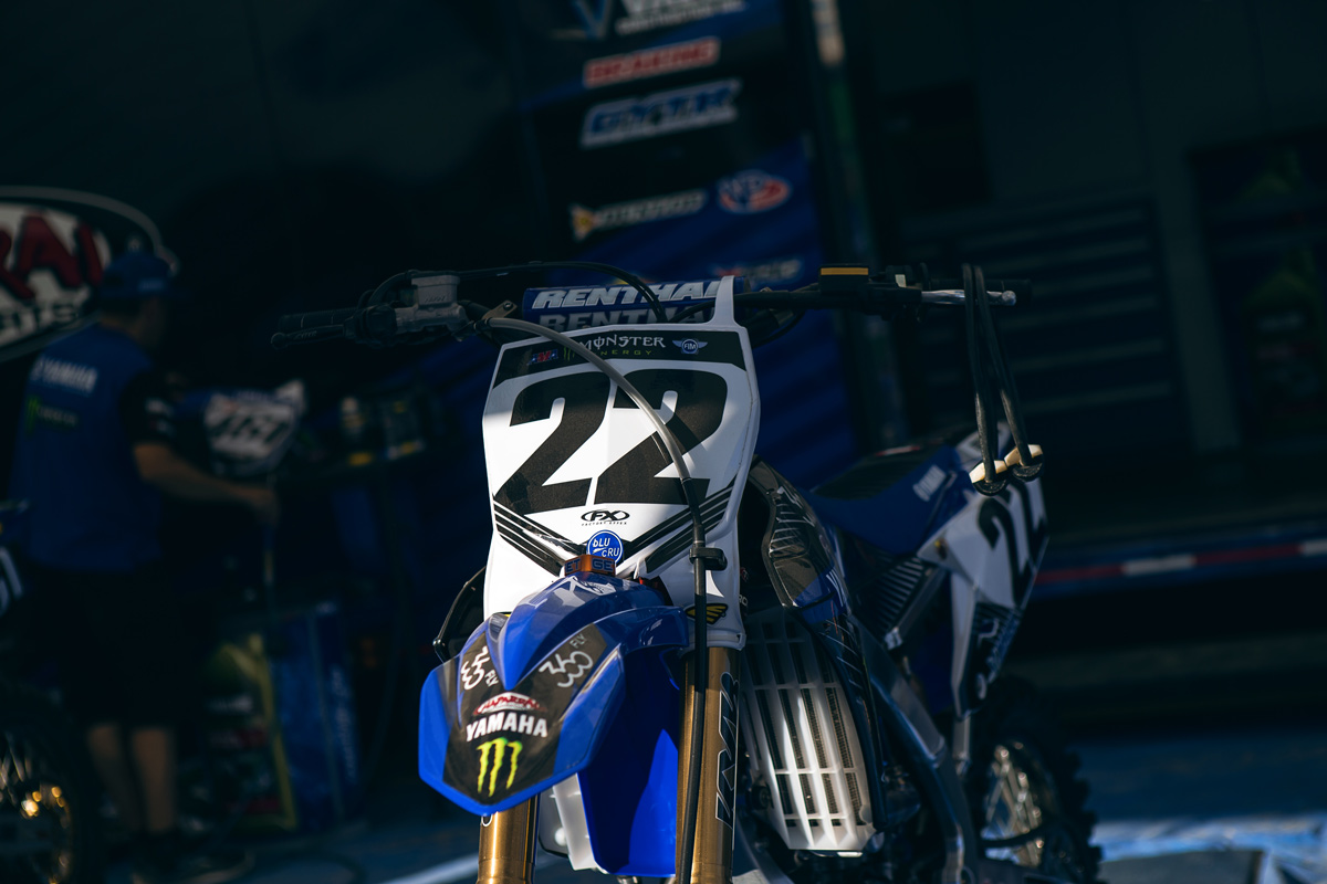 Chad Reed's bike was at the track, but he didn't race.