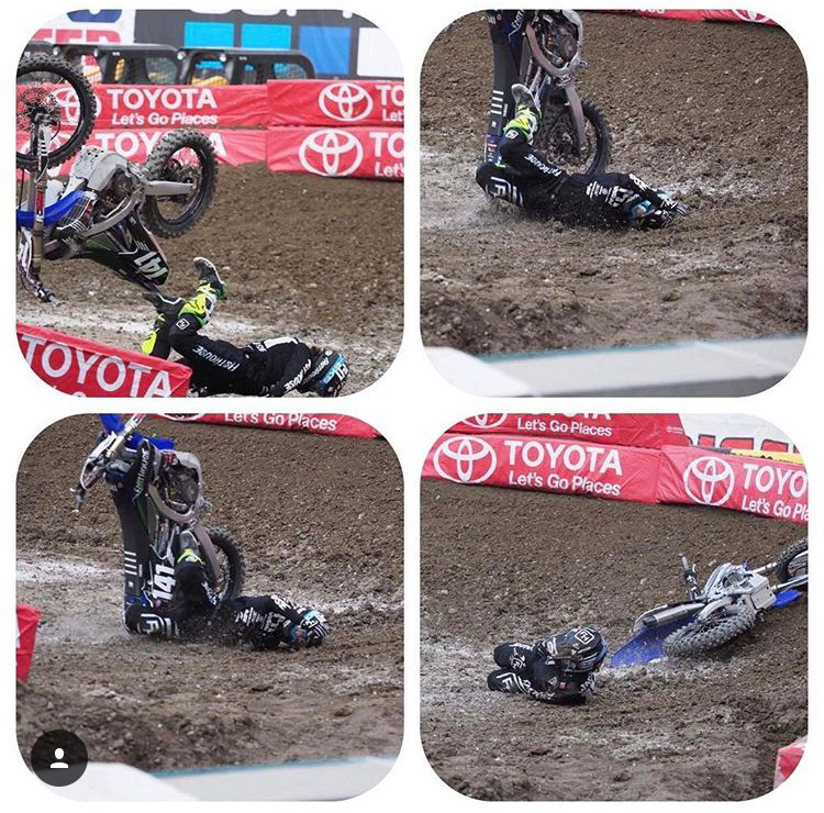 This nasty crash could've been much worse, but Robbie walked away from it.