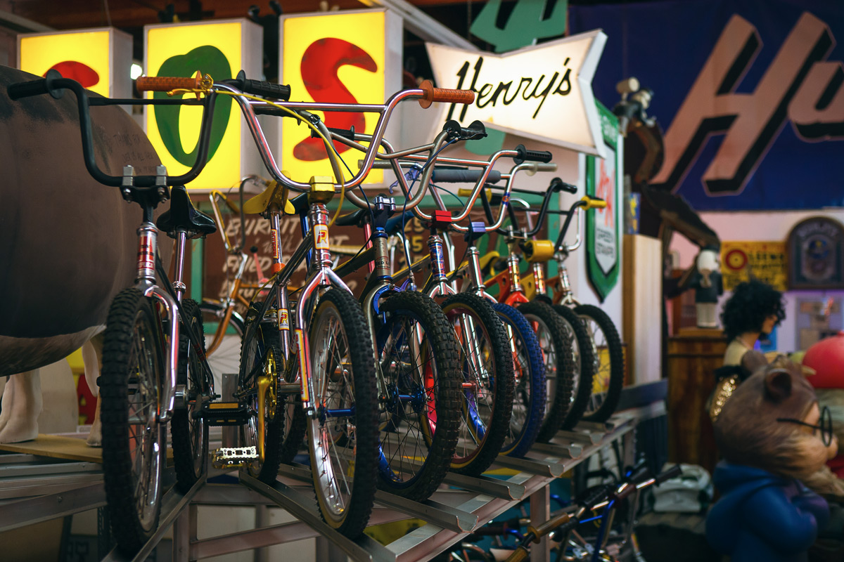 Valley Relics has their own collection of vintage BMX bikes.