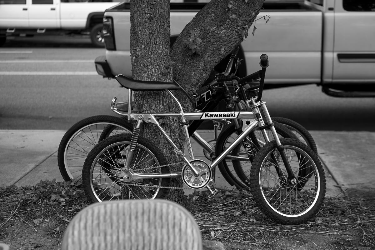 Kawasaki BMX bike.