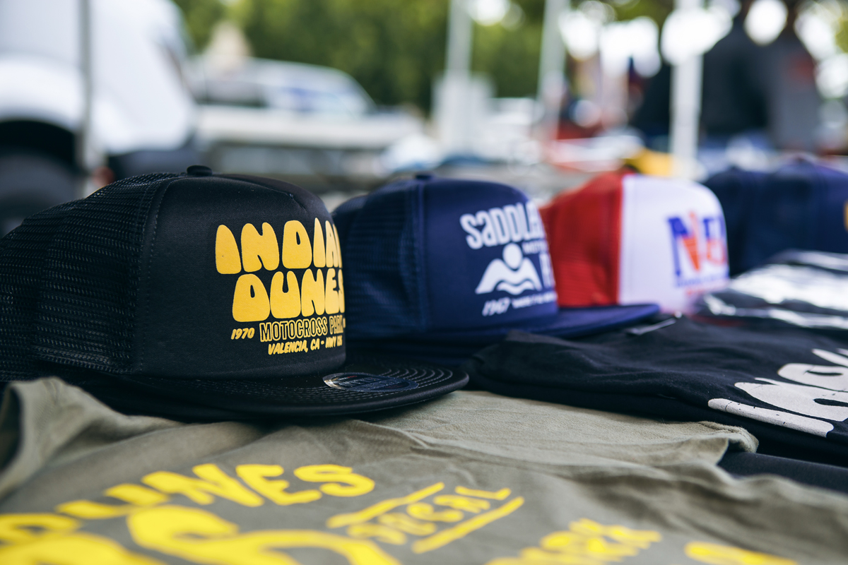 FH was on hand, selling some hats and shirts from the Valley's most promenient MX track, Indian Dunes.
